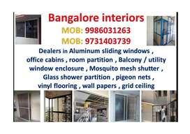 Aluminum windows , office cabins , Aluminium Balcony windows