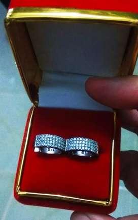 Anting silver S925 mata zircone