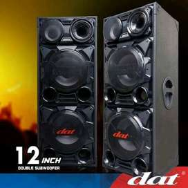 "(Cash & Credit) Speaker Aktif Dat 12"" Double Subwoofer"