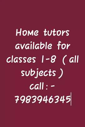 home tutors available for all classes