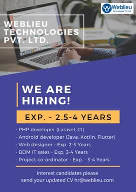 IT Recruiter with 2.5-4 Years of experience.