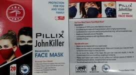 Face mask branded by Pillix john killer ..3 layers 100% cotton