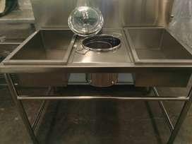Meja Dusting Meja Praktis  Untuk Penepungan Fried Chicken