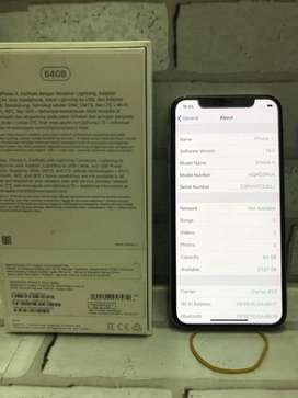 iphone x 64 silver garansi ibox