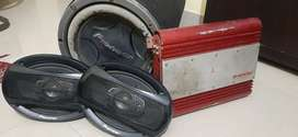 Poineer CAR Base Tube and Amplifier With 2 Speakers