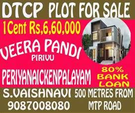 DTCP PLOTS- MTP road periyanaikenpalayam near