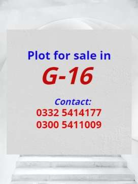 35x80 plot 60 Feet wide road available in G16