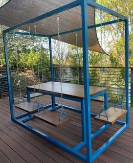 Meja kursi restaurant Kursi taman swing chair meja kursi cafe ayunan