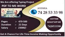 Still Not Earning From Typing Job ? Don't Worry! Call Now Here