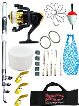 Fishing Rod,Reel,Accessories Complete Beginners kit,