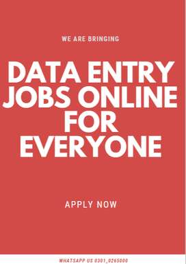 Get your payment through data entry job easily anywhere online
