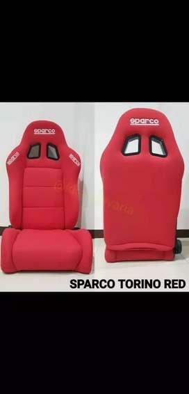 Jok racing sparco torino merah readystock