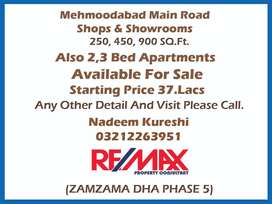 Flats,Plots,Shops For Sale Mehmoodabad (Read Full Add)