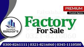 4 Kanal Factory Available For Sale With Gas At Small Industrial Estate