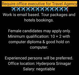 Require Female Candidate for Travel Company