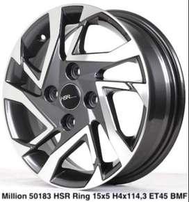 Velg Mobil Isuzu ( Panther KIA Carens, Pride Ring 15 Type HSR Milion