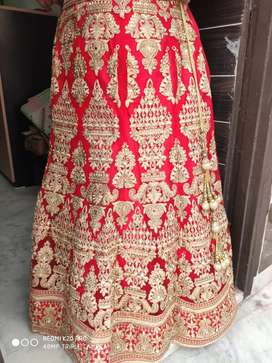 Bridel wedding Designer Lehanga- one time wear (original cost 45000)