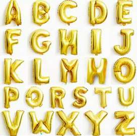 Golden foil balloon 16 inch alphabet numbers name also