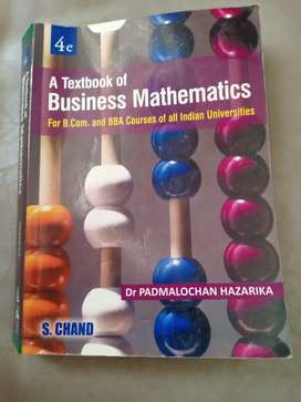 Business mathematics book for BBA and BCom course