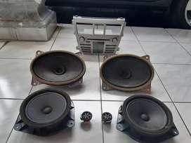 Head unit Vios 2008 gen 2 + speaker oem depan belakang