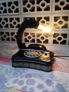 lampu meja hias telepon jadul