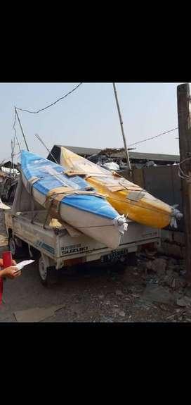 perahu kano fiber,pabrik perahu kayuh,perahu dayung,pelampung murah