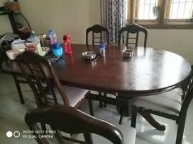 6 chirs wood dining table