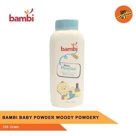 BAMBI BABY POWDER WOODY POWDERY 100g- Bedak Bayi
