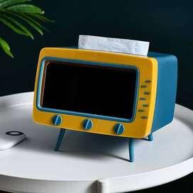 tempat tissue model tv