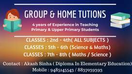 Home Tutions For Primary And Upper Primary Students