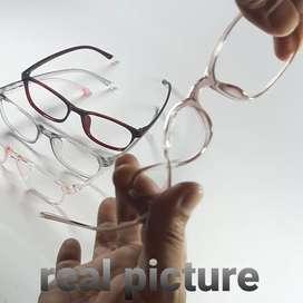 Kacamata Berkualitas, Frame + Lensa, Minus Anti Radiasi UV