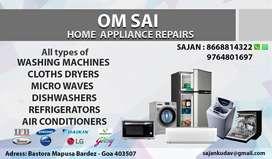 Repairs all types of washing machines