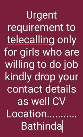 Tellycaller(only for girls)