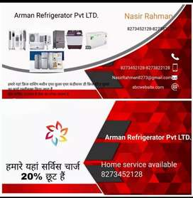 All type refrigerator repairing centre and home service available