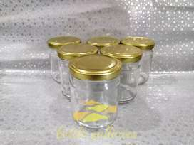 150ML GLASS JARS WITH GOLDEN LID FOR JAM & CHOCOLATES CAKE