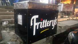 Fries or burger stall/cabin/Counter
