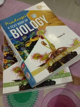Pradeep's Biology Reference Book class 11th volume 1 and 2