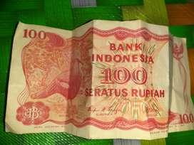 Uang Lama Pecahan Rp. 100 tahun 1984