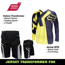 COD - Jerset Sepeda DH FOx YellowBlack