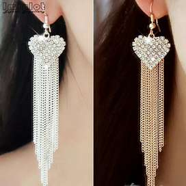 Women's party tassels rhinestone crystal Earings
