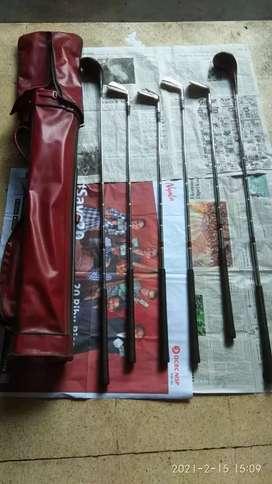 Stick GOLF merek WILSON made in USA 1SET (Isi 6pcs) + Sarung Kulit