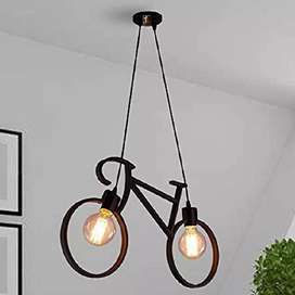 Cycle hanging light with filameent bulb