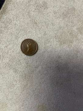 One paise old coin