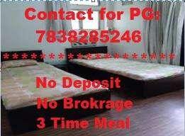 0 Deposit No brokg 3 Tm Food Girls PG with AC,WiFi,RO,Power backup etc