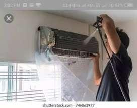 Splite A/c water service  plumbing work ELECTRIC WORKS