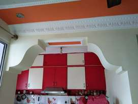 False ceiling wardrobes modular kitchen done