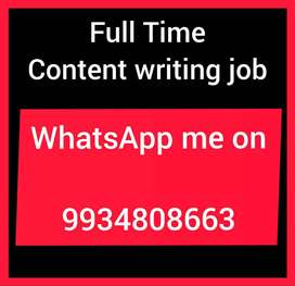 Office executive are required. Full time content writing job
