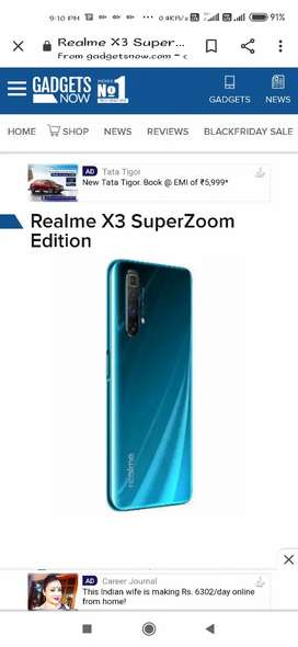 Realme X3 super zoom 12 256 seal pack