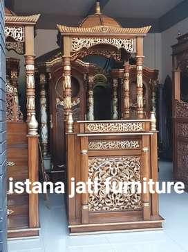 Mimbar masjid khutbah model atap kubah barang tersedia