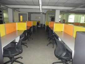 full furnished office space 45 work station with 2 cabins